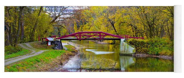 The Delaware Canal Near New Hope Pa In Autumn Yoga Mat