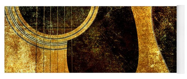The Edgy Abstract Guitar Square Yoga Mat