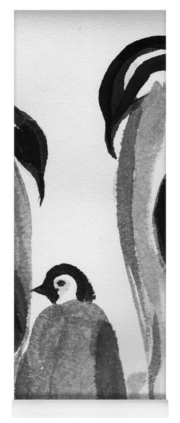 Happy Feet -the Family Of Penguins Yoga Mat