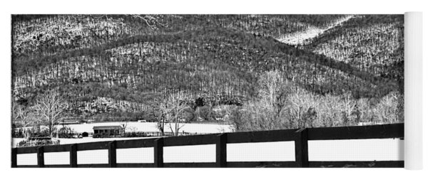 The Fenceline B W Yoga Mat