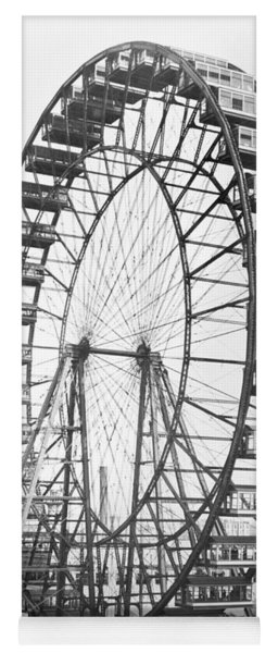 The Ferris Wheel At The Worlds Columbian Exposition Of 1893 In Chicago Bw Photo Yoga Mat