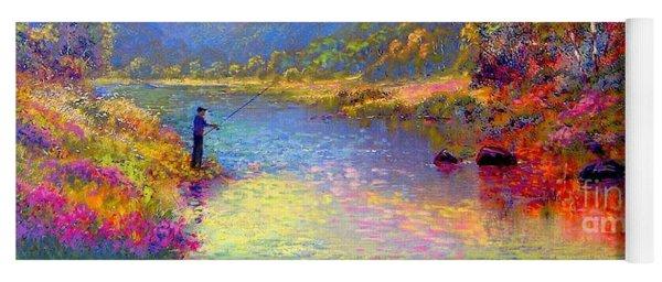 Fishing And Dreaming Yoga Mat