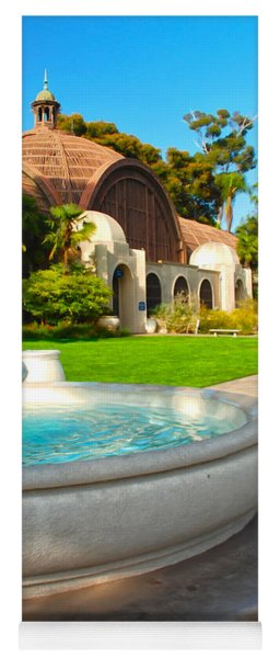 Botanical Building And Fountain At Balboa Park Yoga Mat