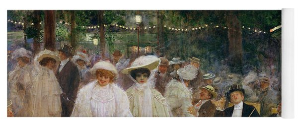 The Gardens Of Paris, Or The Beauties Of The Night, 1905 Oil On Canvas Yoga Mat