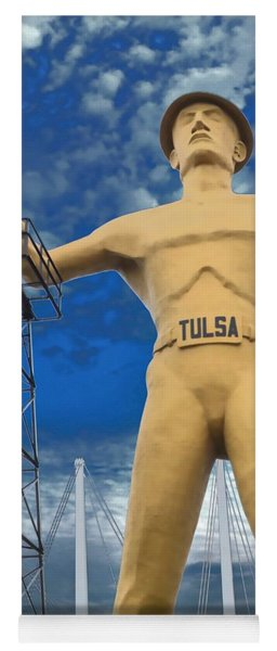 The Golden Driller - Tulsa Oklahoma Yoga Mat