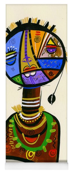 The Good Face Of Colours, 2013 Mixed Media On Card Yoga Mat