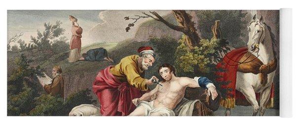 The Good Samaritan, Illustration Yoga Mat