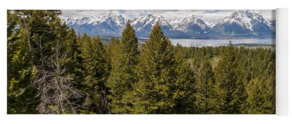 The Grand Tetons From Signal Mountain - Grand Teton National Park Wyoming Yoga Mat