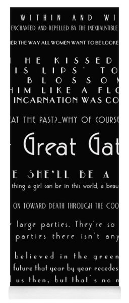 The Great Gatsby Quotes Yoga Mat