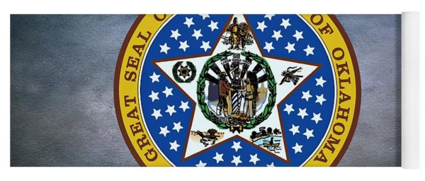 The Great Seal Of The State Of Oklahoma Yoga Mat
