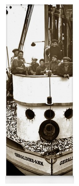 The Happy Crew Of The Fishing Boat  Geraldine- Ann Monterey California 1939 Yoga Mat
