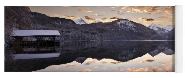 The Hut By The Lake Yoga Mat