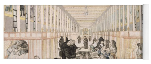 The Infirmary Of The Sisters Of Charity During A Visit Of Anne Of Austria  Yoga Mat