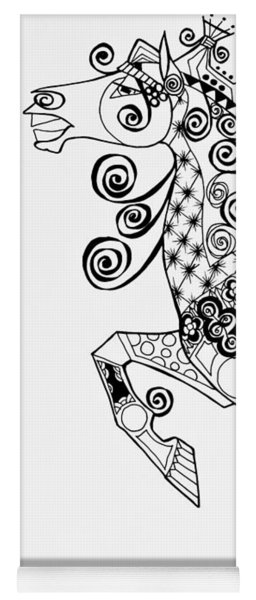 The King's Horse - Zentangle Yoga Mat