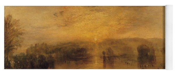 The Lake, Petworth Sunset, A Stag Drinking, C.1829 Yoga Mat
