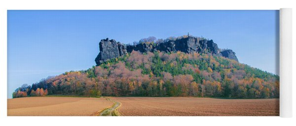 The Lilienstein On An Autumn Morning Yoga Mat