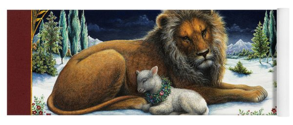 The Lion And The Lamb Yoga Mat