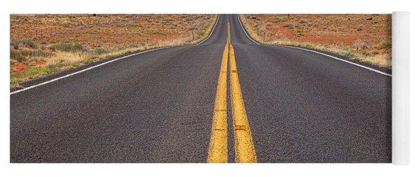 The Long Road Ahead Yoga Mat