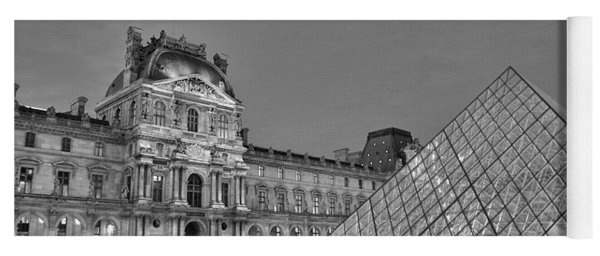 The Louvre Black And White Yoga Mat