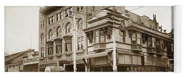 The Monterey Hotel 1904 The Goldstine Block Building 1906 Photo  Yoga Mat