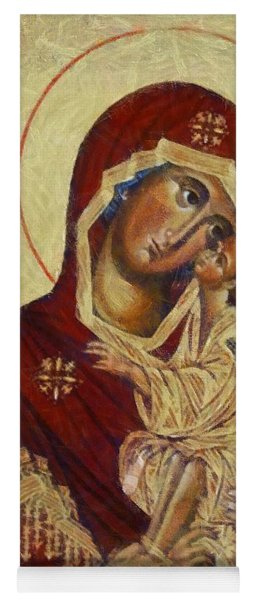 The Mother Of God -the Don Icon Yoga Mat