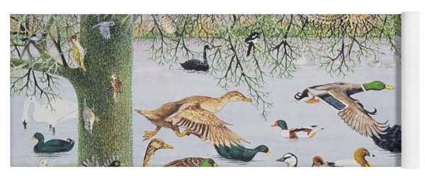The Odd Duck Acrylic On Canvas Yoga Mat