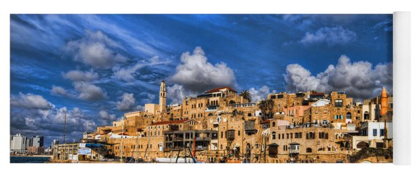 the old Jaffa port Yoga Mat