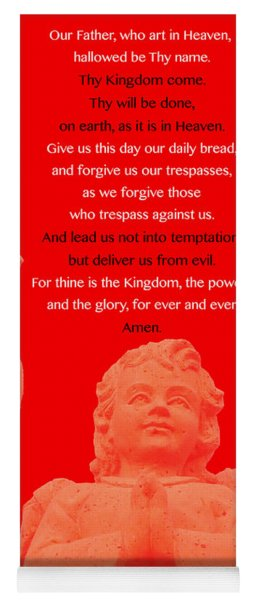 The Our Father Prayer With Angels 2 Yoga Mat