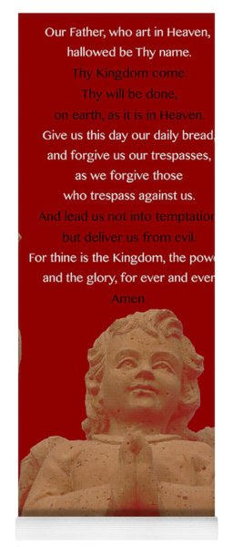The Our Father Prayer With Angels Yoga Mat