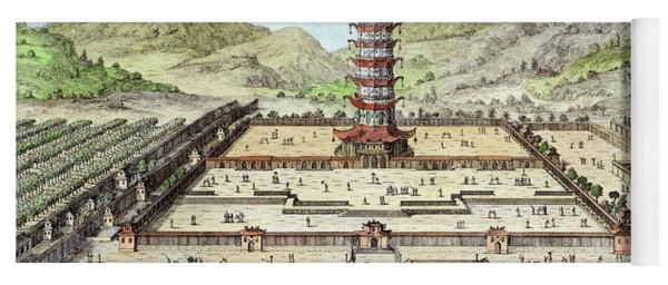 The Porcelain Tower Of Nanking, Plate Yoga Mat