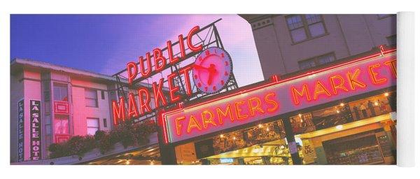 The Public Market Seattle Wa Usa Yoga Mat