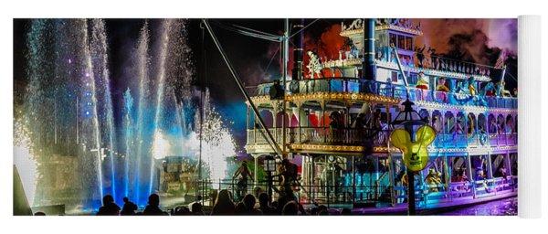 The Mark Twain Disneyland Steamboat  Yoga Mat