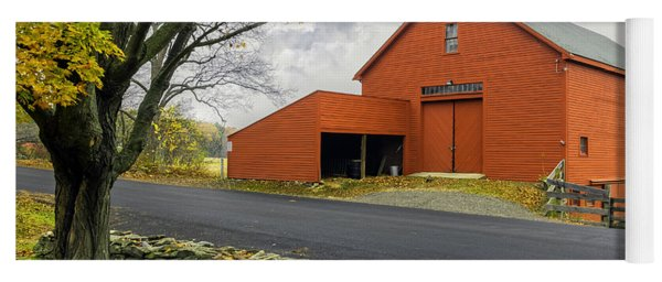 The Red Barn At The John Greenleaf Whittier Birthplace Yoga Mat