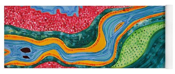 The Riffles Original Painting Yoga Mat