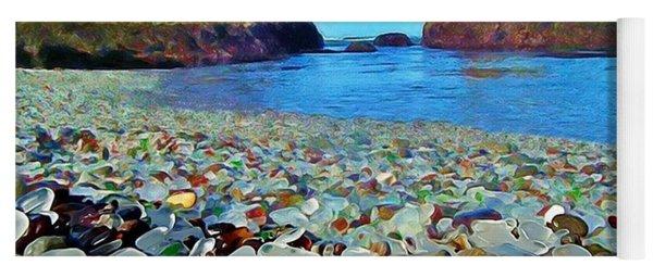 Glass Beach In Cali Yoga Mat