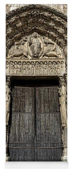 The Royal Portal At Chartres Yoga Mat