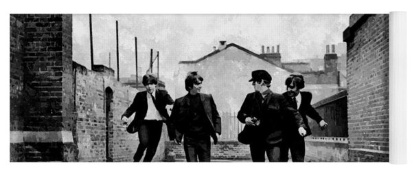The Running Beatles Yoga Mat