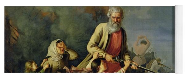 The Russians In 1812, 1855 Oil On Canvas Yoga Mat