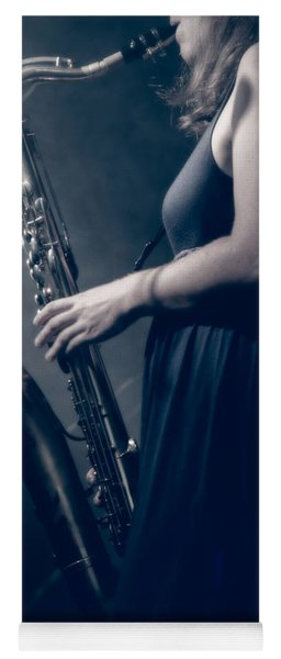 The Saxophonist Sounds In The Night Yoga Mat