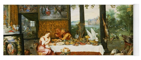 The Sense Of Taste, 1618 Oil On Panel Yoga Mat