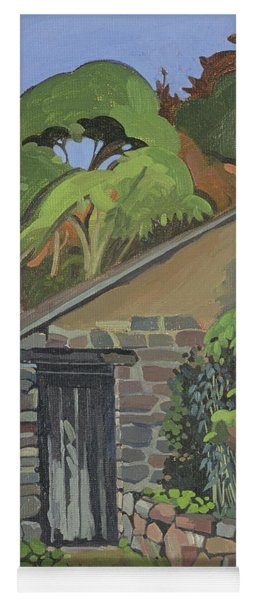 The Shed, Clovelly Oil On Board Yoga Mat