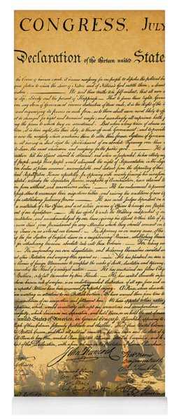 The Signing Of The United States Declaration Of Independence Yoga Mat