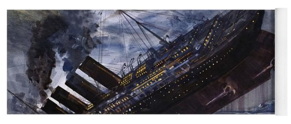 The Sinking Of The Titanic Yoga Mat