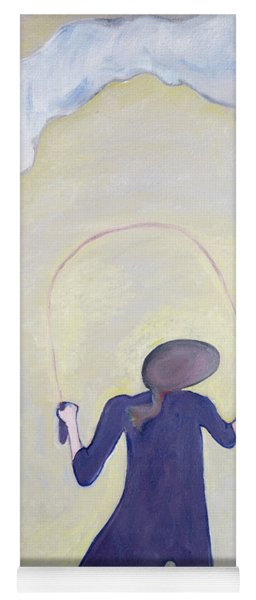 The Skipping Rope, 1983 Oil On Canvas Yoga Mat