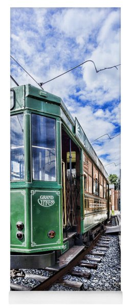 The Stib 1069 Streetcar At The National Capital Trolley Museum I Yoga Mat