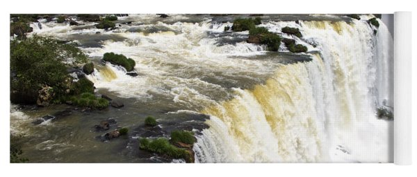 The Stunning Falls Of Iguacu Brazil Side Yoga Mat