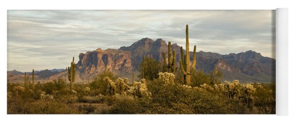 The Superstition Mountains Yoga Mat