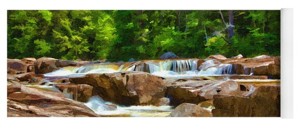 The Swift River Beside The Kancamagus Scenic Byway In New Hampshire Yoga Mat