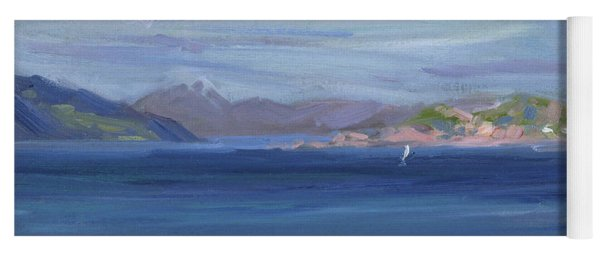 The Tail Of Mull From Iona Yoga Mat