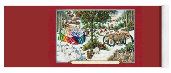 The Twelve Days Of Christmas Yoga Mat